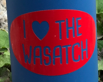 I Heart the Wasatch Utah Vinyl Sticker