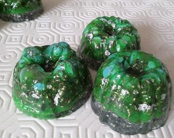 Mini Green orgone tower buster circular shapes