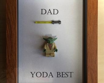 Fathers Day birthday frame. Yoda best.