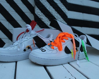 Off White Custom Air Force 1's