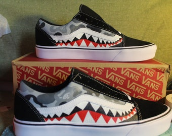 Grey Bape Camo Custom Old Skool Vans