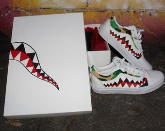Bape Teeth And Camo Vans