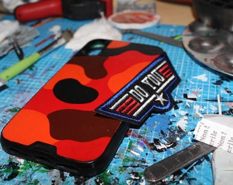 Red Camo Custom iPhone / Samsung Phone Mous Case