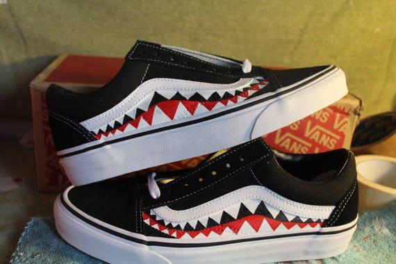 Bape Teeth Custom Vans