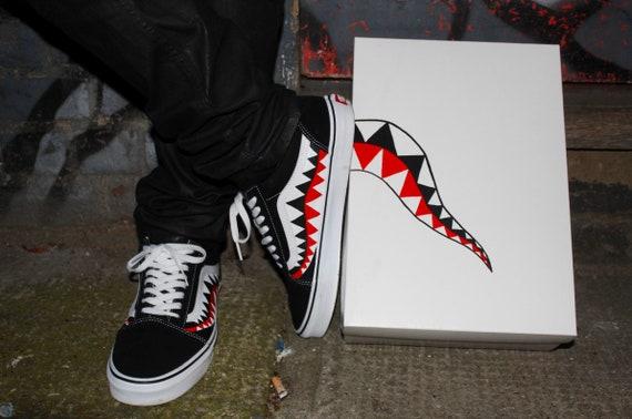 Bape Shark Teeth Custom Old Skool Vans