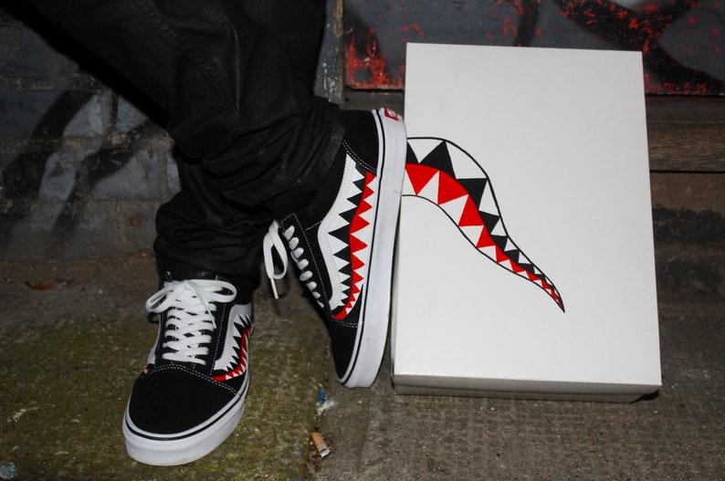 Bape Shark Teeth Custom Old Skool Vans image 0