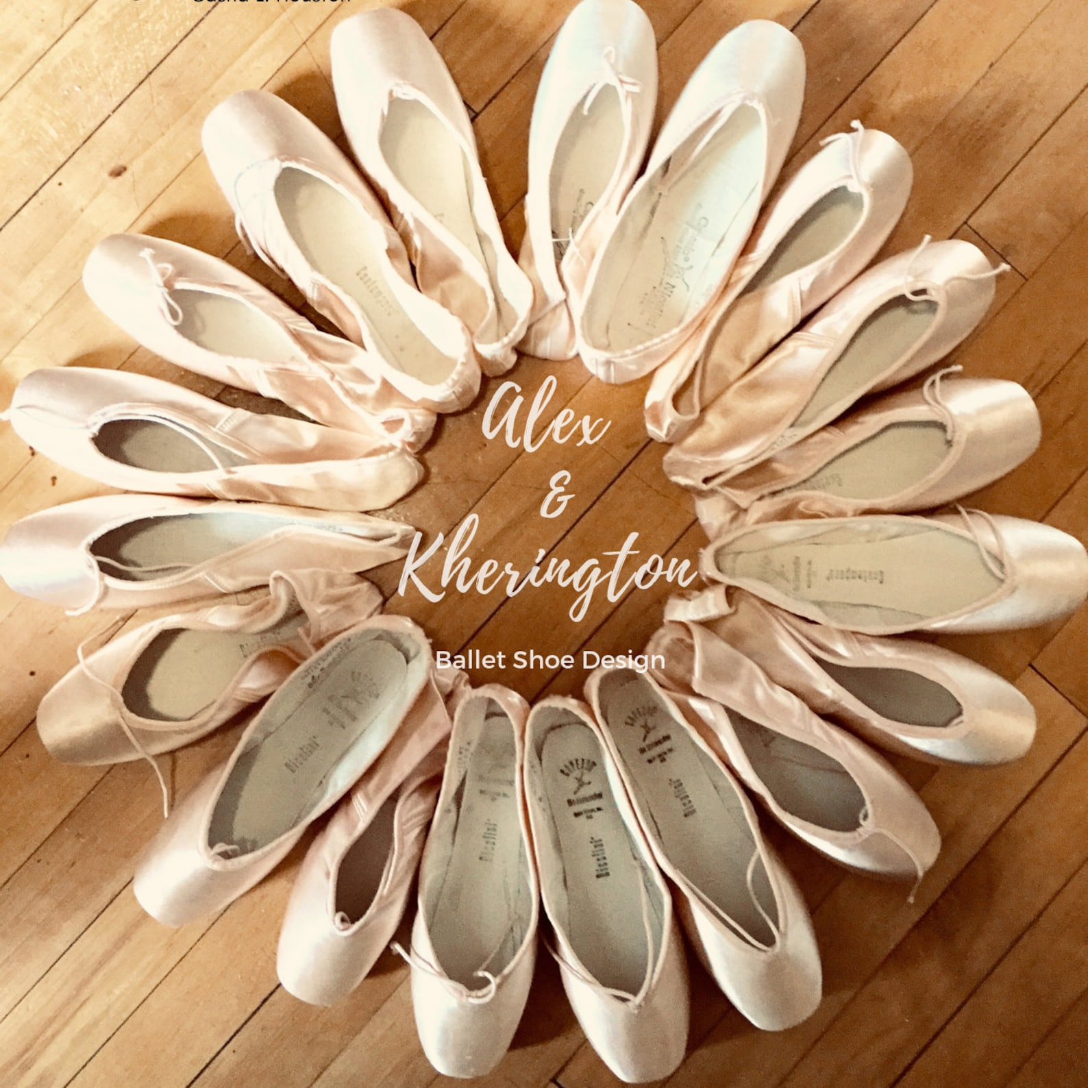 create your pointe shoes here at alex & kherington ballet shoe design - ribbons included