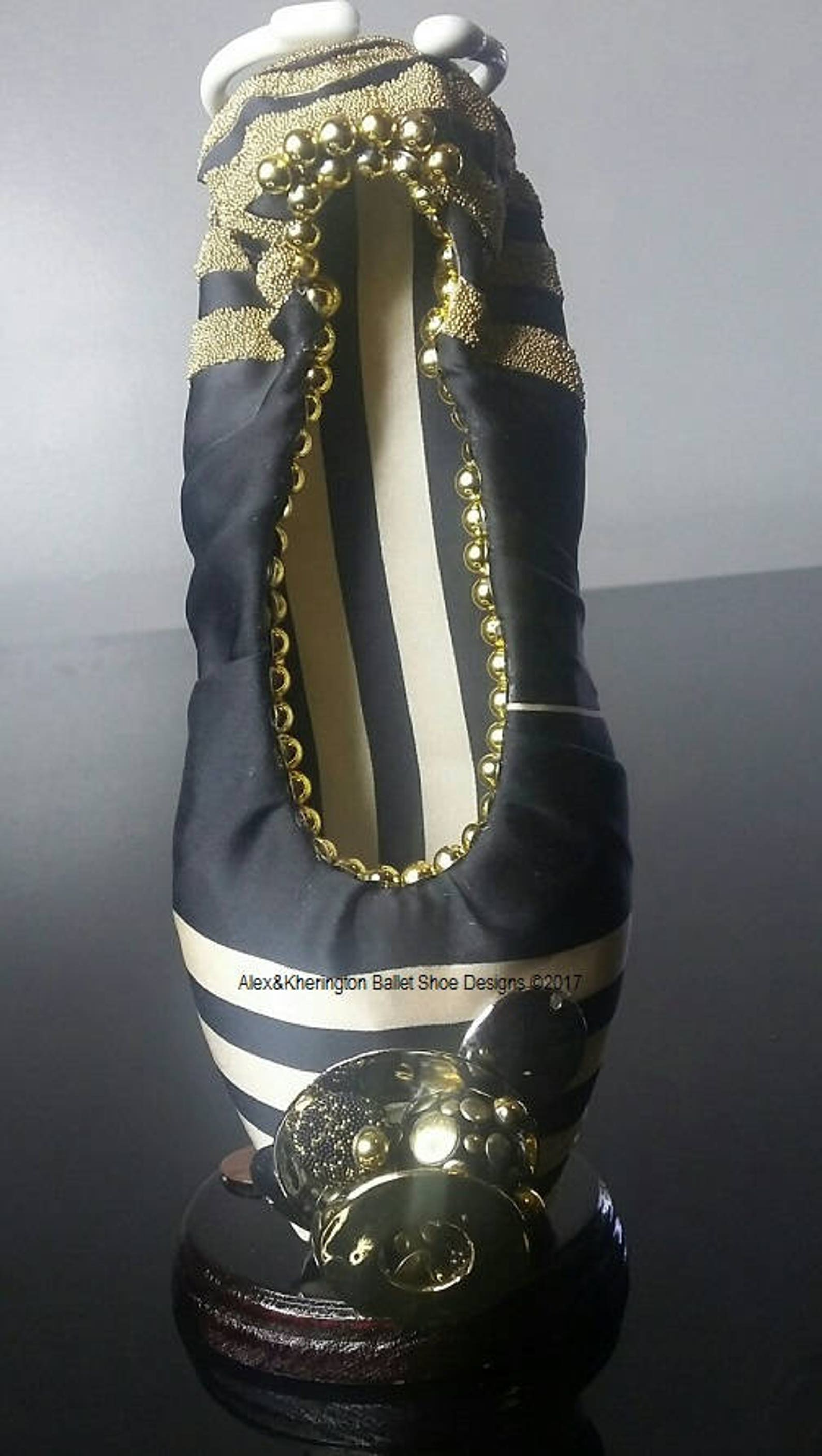metal - alex & kherington ballet shoe designs, decorated pointe shoes