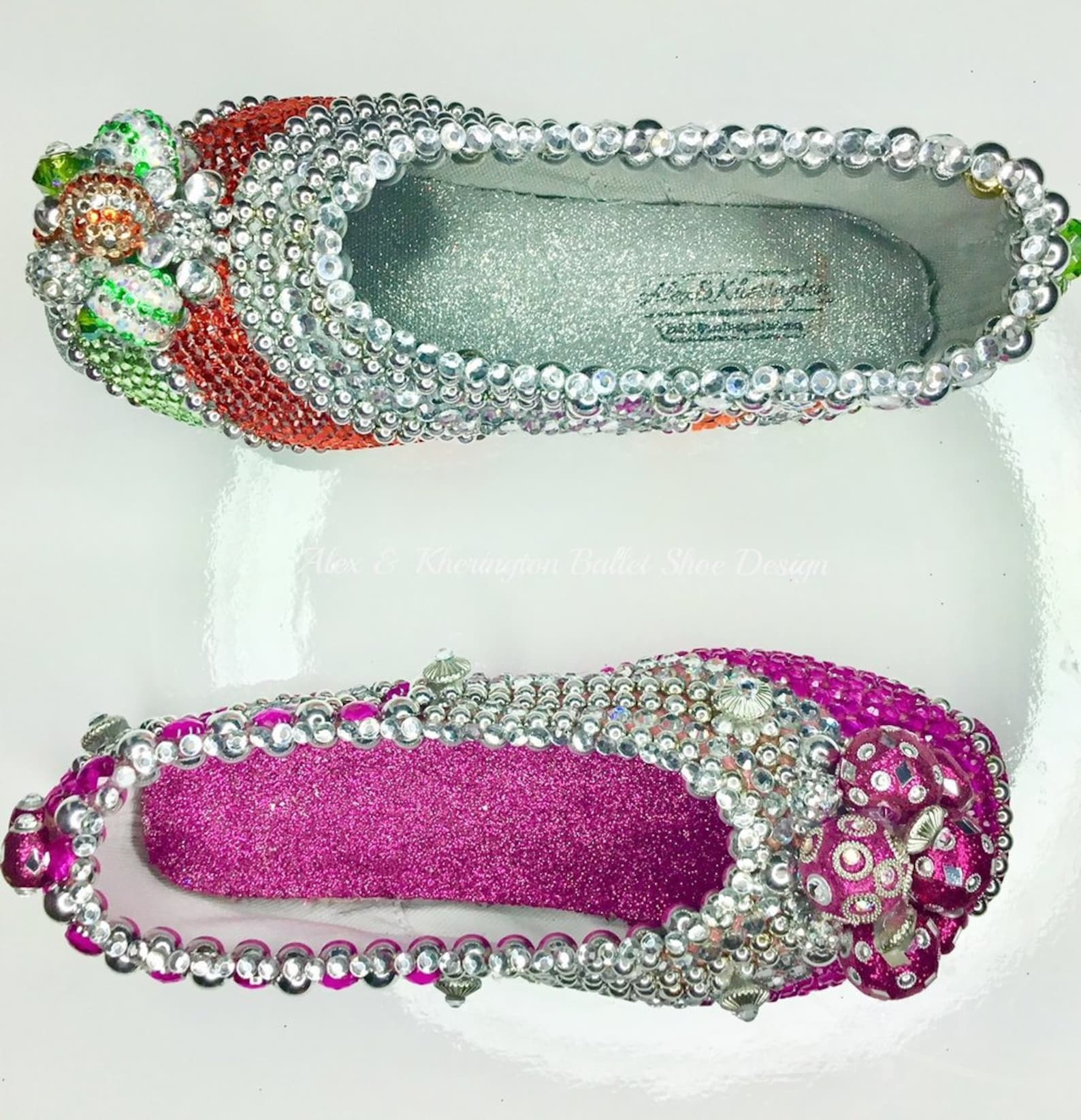grand jeté - alex & kherington ballet shoe design, pointe shoe design, decorated pointe shoes