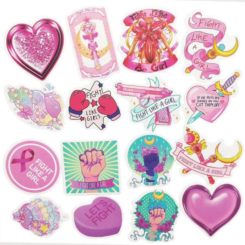 50pcsbag Cute Wand Pink Girls Sticker Pack-fun Thriller aesthetic graffiti promo gift luggage Packaging laptop decal wrap diary letter