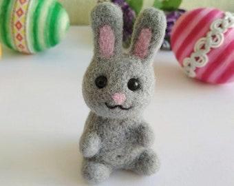 Bunny Needle Felted Wool Rabbit Small