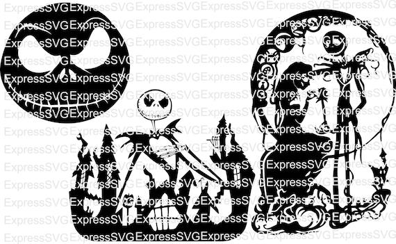 Jack & Sally Skellington Nightmare Before Christmas 3 Pack