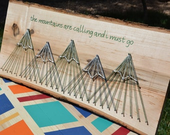 The Mountains are Calling String Art