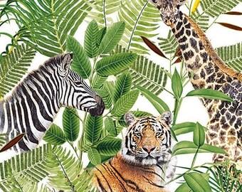 3 Servietten Afrika Jungle Parc Giraffe Frauen Safari Napkin