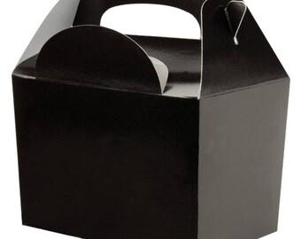 Plain Colour Party Box - Black, Pack of 10