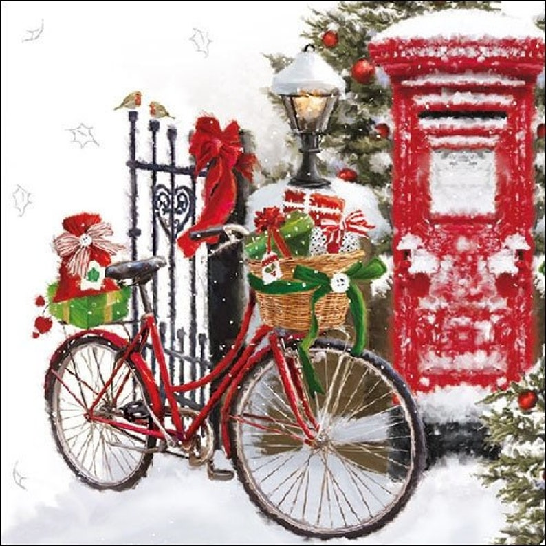 Napkin Art Ideal for Decoupage Cycling in Paris 4 x Paper Napkins