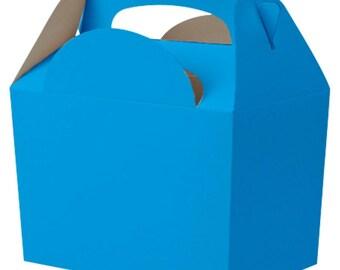 Plain Colour Party Box -  Bright Blue, Pack of 10,