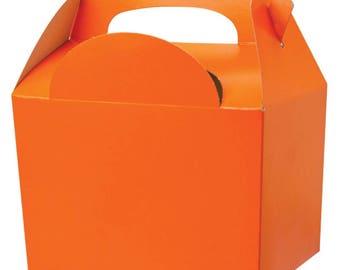 Plain Colour Party Box -  Orange, Pack of 10,