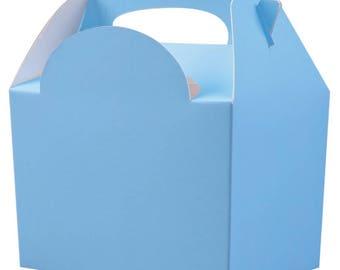 Plain Colour Party Box - Light Blue, Pack of 10,