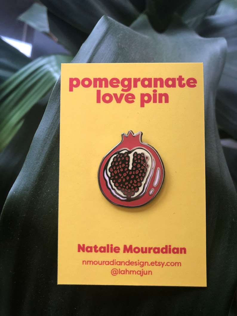 Pomegranate Love Hard Enamel Pin