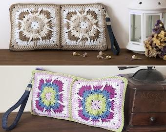 Crochet bag granny square, best selling items handmade, crocheted purses for little girls, handbags with zipper, hippie bags for women.