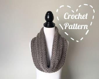 Crochet Pattern - The Rue Scarf - Chunky Cowl Circular Infinity Scarf - Instant PDF Download