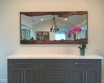 Live Edge Walnut slab mirror