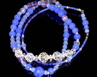 Periwinkle stacked bracelets set