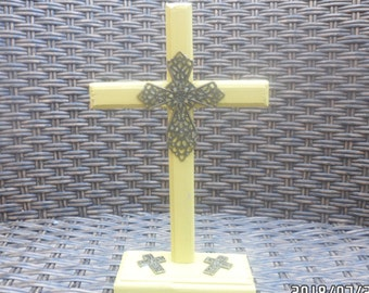 Small Freestanding Cross Paint Your Own Ceramic Keepsake