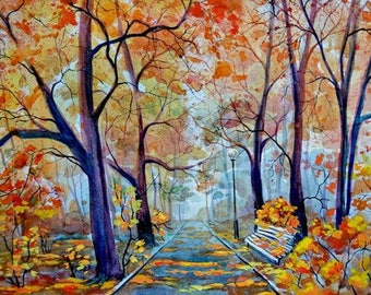 Watercolour Landscape Painting Clip Art Image JPEG High Resolution Q90