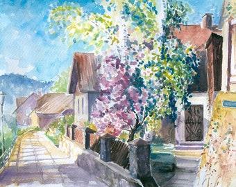 Watercolour Painting Clip Art Image JPEG High Resolution Q206