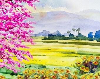 Watercolour Painting Clip Art Image JPEG High Resolution Q70