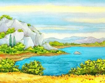 Watercolour Painting Clip Art Image JPEG High Resolution Q174
