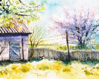 Watercolour Painting Clip Art Image JPEG High Resolution Q63