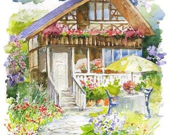 Watercolour Painting Clip Art Image JPEG High Resolution Q200