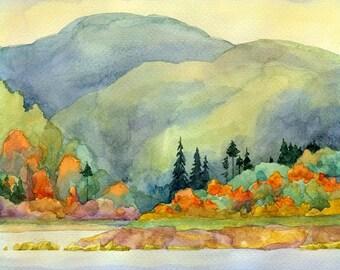 Autumn Watercolour Painting Clip Art Image JPEG High Resolution Q274