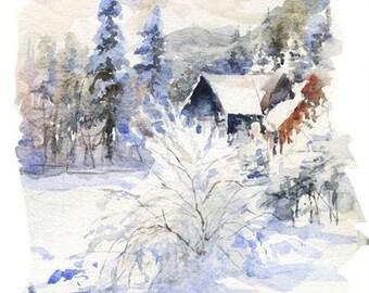 Watercolour Painting Clip Art Image JPEG High Resolution Q89