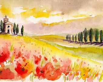 Autumn Watercolour Painting Clip Art Image JPEG High Resolution Q245