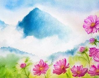 Watercolour Painting Clip Art Image JPEG High Resolution Q161