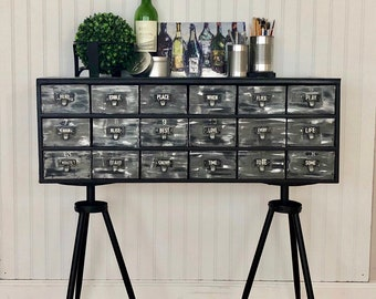 Card catalog consule/ side console/ entry table/ art center