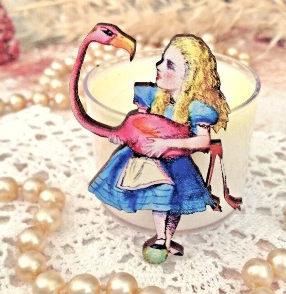 nature inspired wood pin Swan Brooch fairytale jewellery - Gift for Her