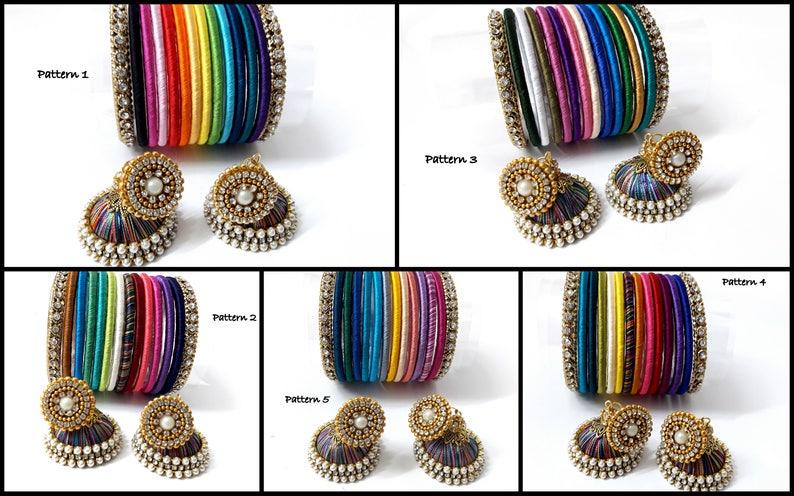 Rainbow Silk Thread Bangles Indian Handmade Jewelry Baby Etsy