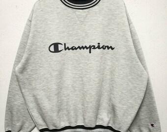 Vintage Champion Big Logo Sweatshirt Sweater