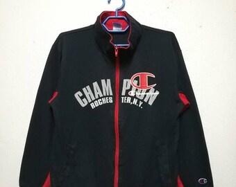 Vintage Champion Big Logo Size 160 Zipper Sweatshirt Sweater