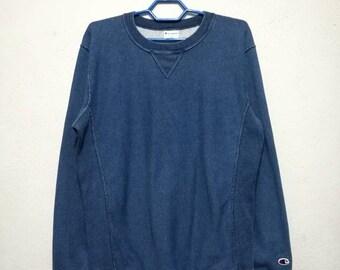 Vintage Champion Reverse Weave Small Logo Sweatshirt Sweater