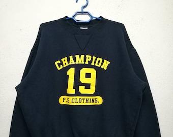 Vintage Champion Big Logo Sweater Sweatshirt