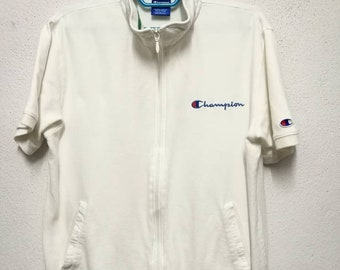 Vintage Champion Small Logo Short Sleeve Zipper Jacket
