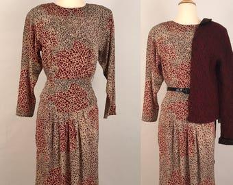 80s Edgy Career Woman Dress Vintage Carol Anderson Midi Dress