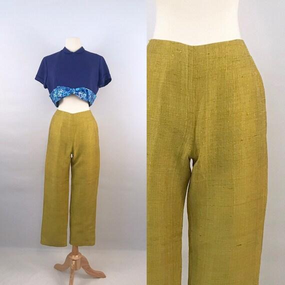 50s vintage pear green cigarette pants / capris