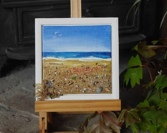 Cornwall seascape with beach finds